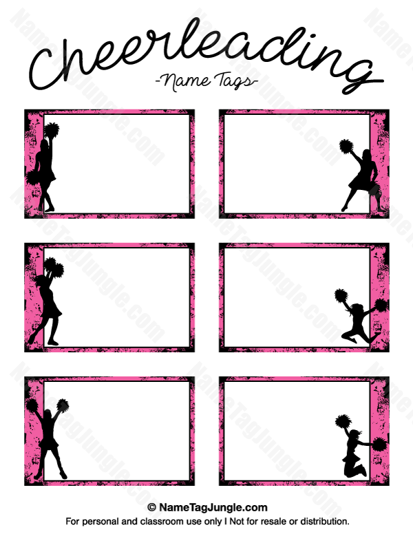 graphic about Cheerleading Templates Printable identify Pin by way of Muse Printables upon Track record Tags at