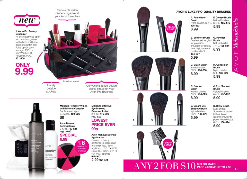 Online Brochure by Makeup remover lotion, Avon makeup