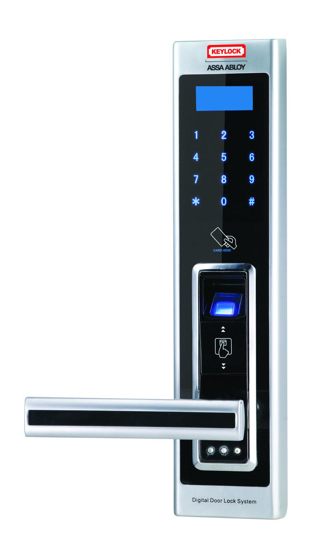 Assaabloydigi Fingerprint Doorlock Door Keypad Satin Chrome Handdoor Electronic Password Card Door Lock System Digital Door Lock Keypad Door Locks