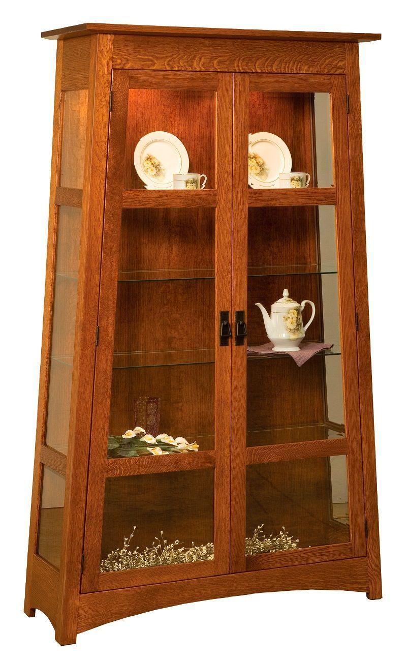Palecek Mission Curio And Display Case Countryside Amish Furniture Amish Furniture Craftsman Furniture Mission Style Furniture
