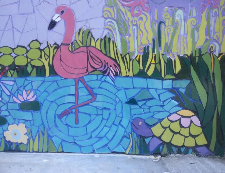 1st turtle I designed.he is on the Wall.