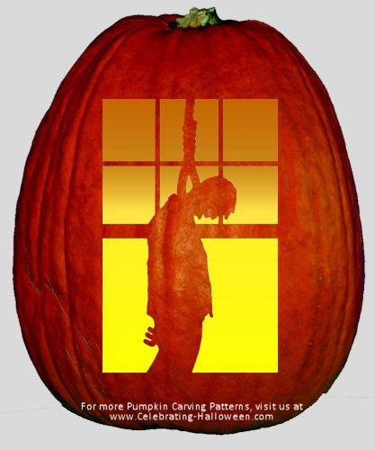 Hanged Man Pumpkin Carving Stencil   Halloween Pumpkin Carving Ideas ...
