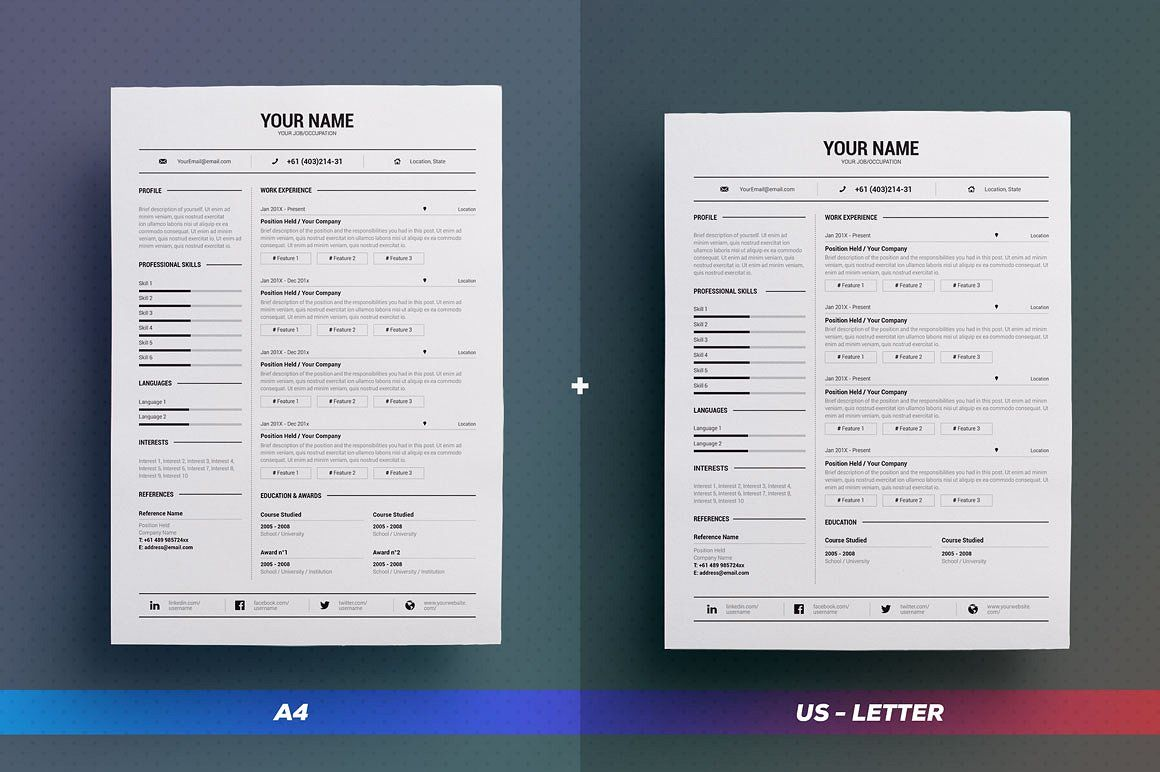 resume cv simple collection n8 by theresumecreator on creativemarket theresumecreator job - Visual Cv Creator