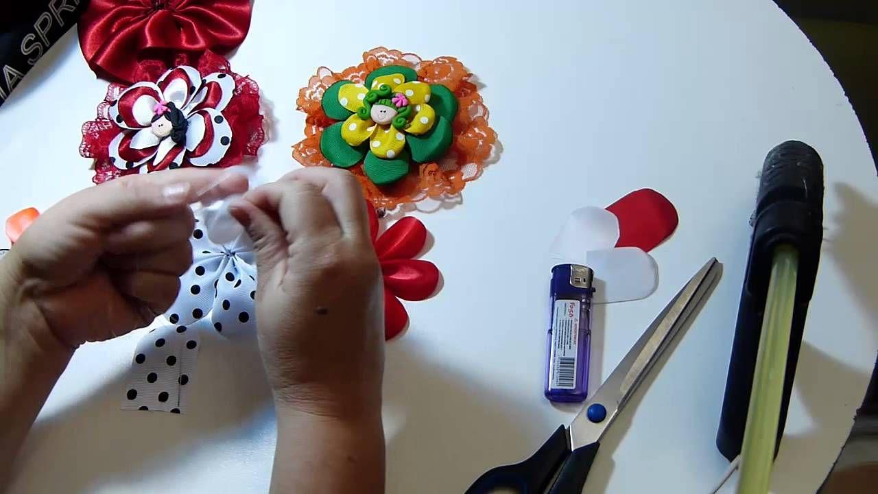 Como hacer mo os redondos con flores en cinta paso a paso - Flores para cocinar ...