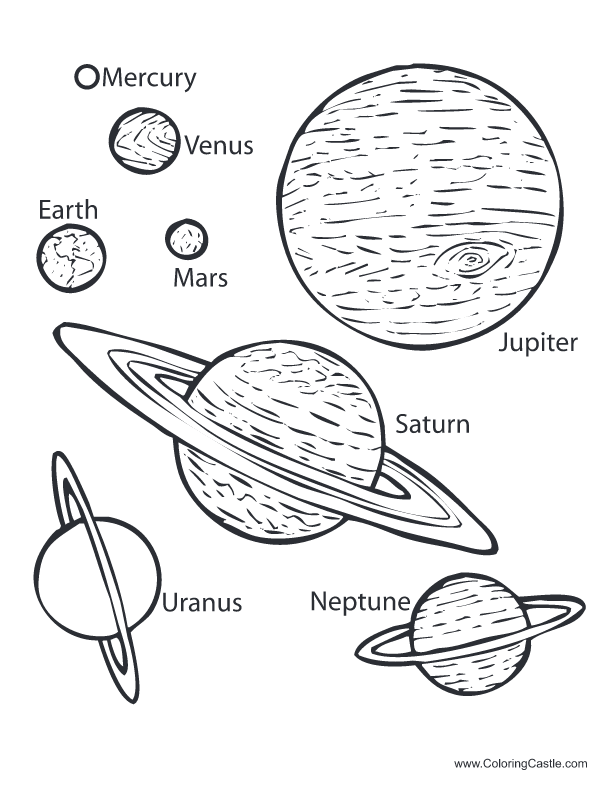 planets in space coloring pages - photo#21