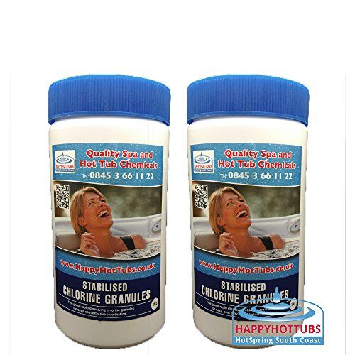 Happy Hot Tubs 2 X 1kg Quality Chlorine Granules Hot Tub Spa Tubs