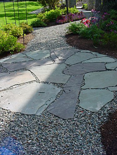 Stone Walkways Nice Change Of Pace Though Keeping One S Pea Gravel Clean And Contained Can Be