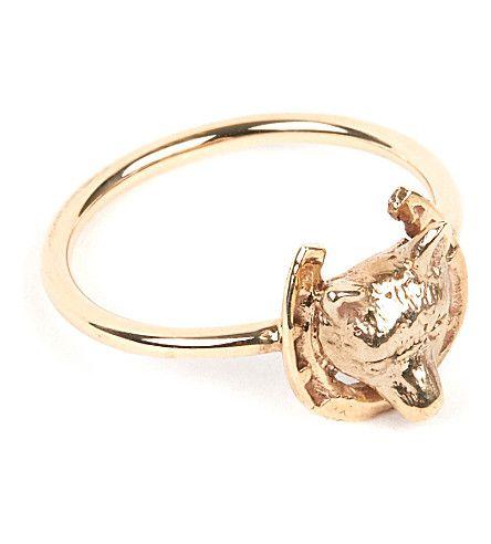 men/'s Horseshoe Diamond .25 carat 10K Gold Ring success lucky fortune success