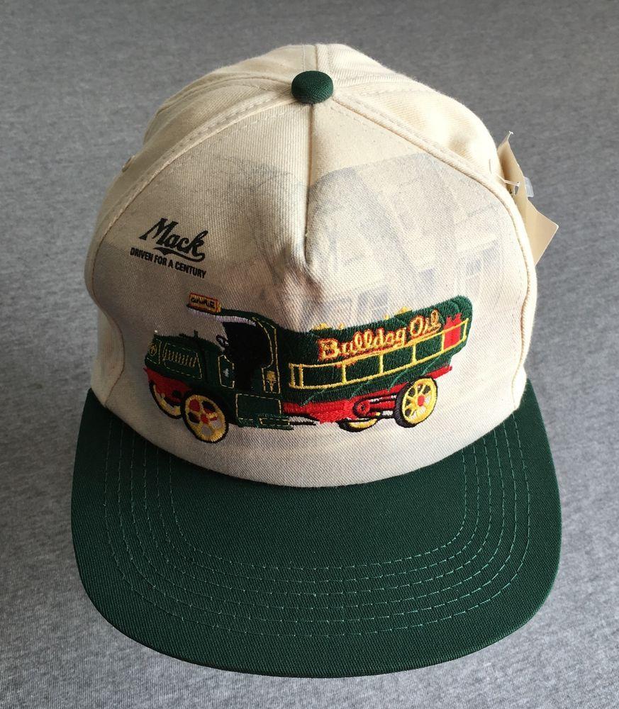 c2af4d998a4 MACK TRUCKS Hat 80 s Vtg Snap Back BULLDOG Trucker Cap Sewn USA Made NEW  NWT  MackTrucks  BaseballCap