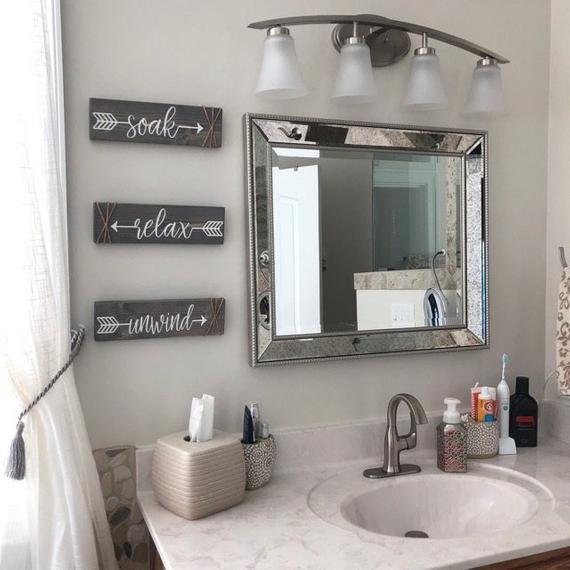 Bathroom Wall Decor Soak Relax Unwind