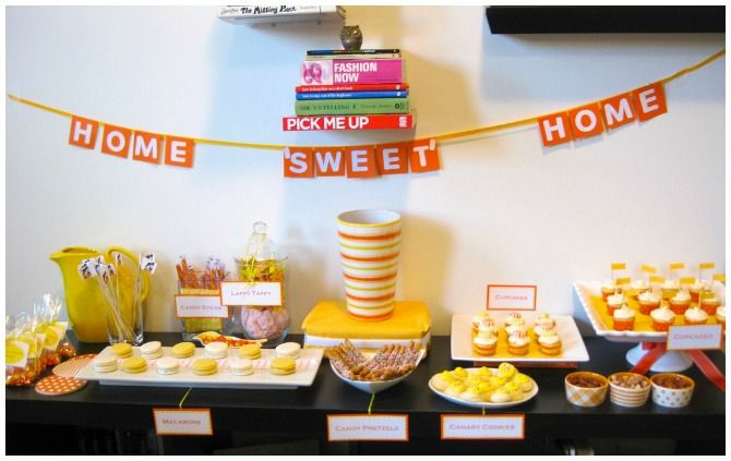 Housewarming party ideas for dessert table decor also the best to make you feel at home rh pinterest