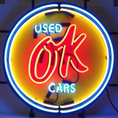 Neonetics Cars and Motorcycles Chevy Vintage Ok Used Cars Neon Sign
