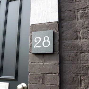Numéro de maison ardoise Décoration maison Pinterest House