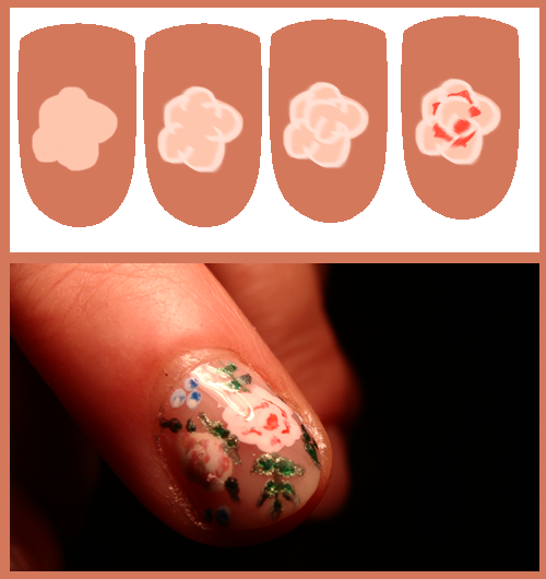 Easy Rose Nail Art Tutorial How To Draw A Design