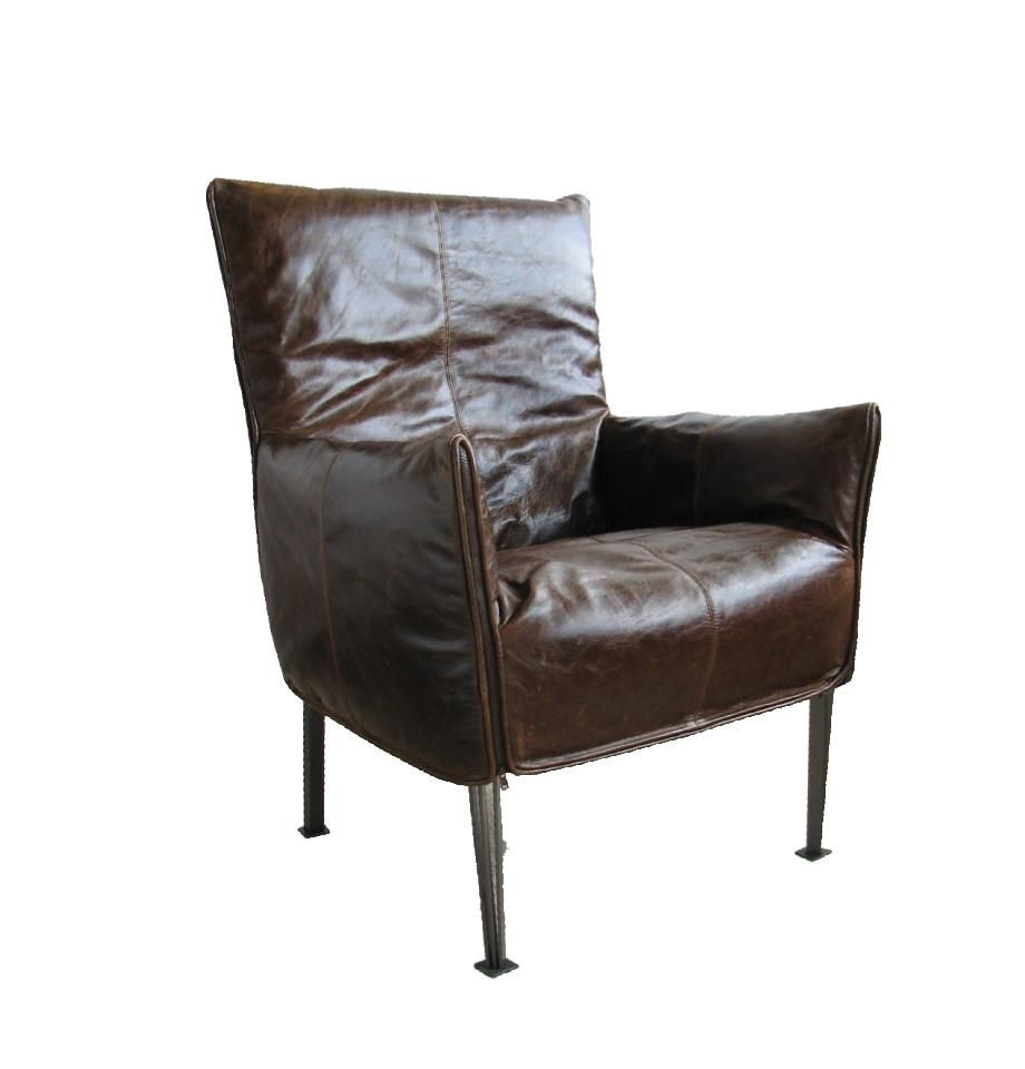 Hugo Steel Chair - NZ Made - NZ Tasman Settler Serge Rustic