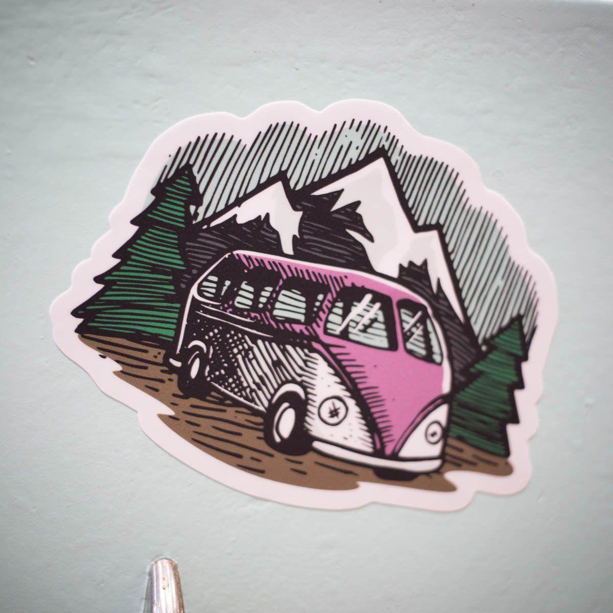 PNW Adventure Bus Sticker Adventure, Stickers, Automobile