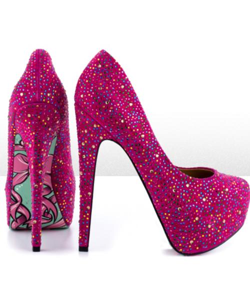 2eb4a3937ca Pink Glitter High Heels | Best Shoes, Boots & Heels ♡ | Glitter ...