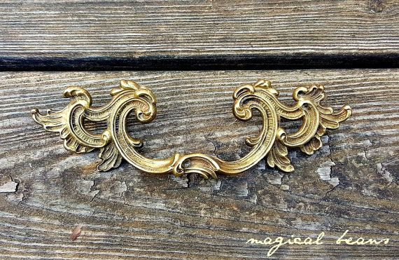 Gold Wing Drawer Pulls Kbc Brass Drawer Pulls French Provincial
