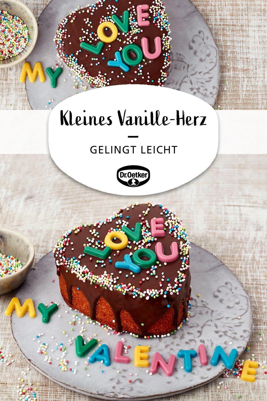 Kleines Vanille Herz Rezept In 2020 Valentinstag Backen Dessert Ideen Und Kuchen Rezepte