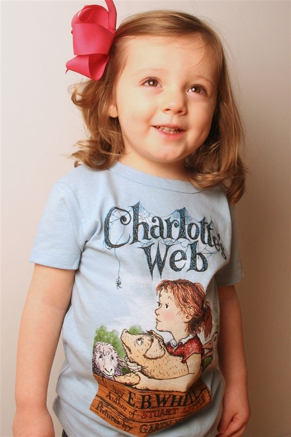 Kids 39 charlotte 39 s web t shirt book jacket child and for T shirt printing in charlotte nc