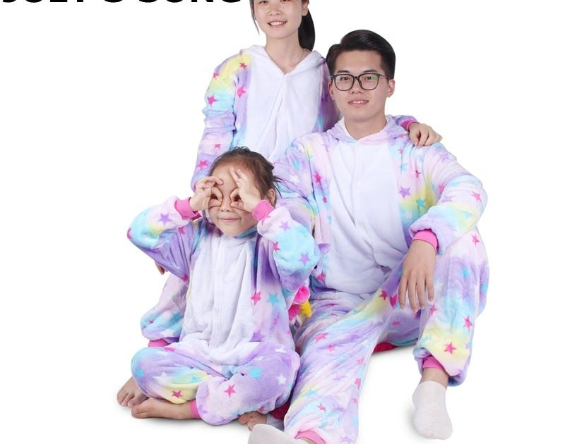 0d0fc39def70 Discount Up to 50% Unicorn Flannel Pajamas Set Kigurumi Pink Cartoon ...