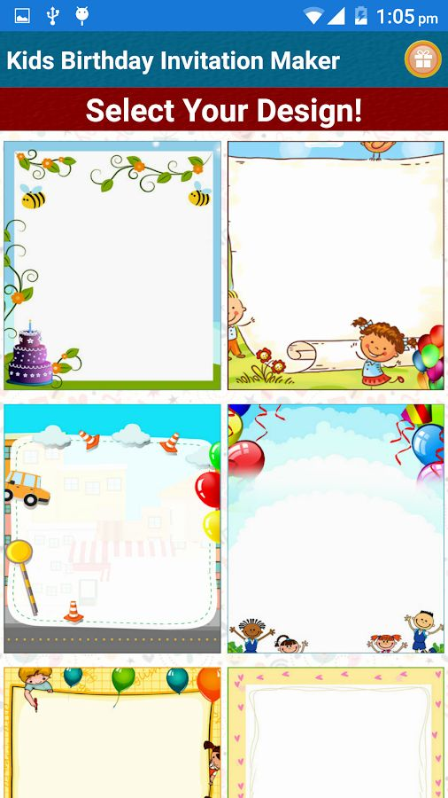 Free Invitation Maker App Beautiful Kids Birthday