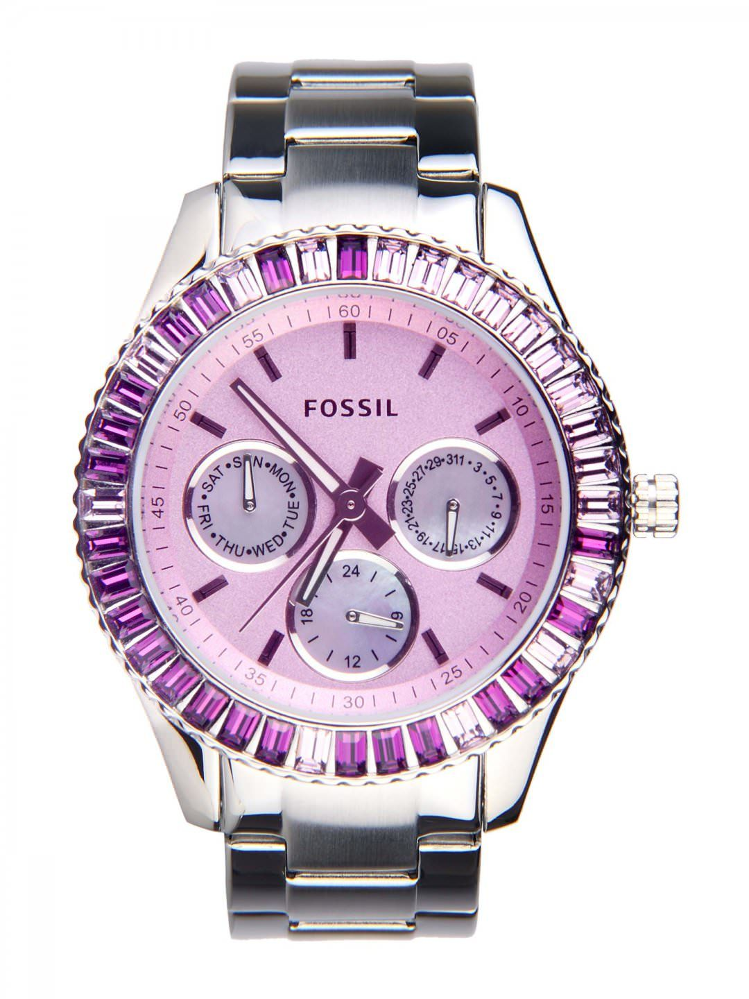 Purple Watches For Women Multi Function Watch Fossil Cecile Multifunction Stainless Steel And Acetate Am 4632 Es2959 Accessories