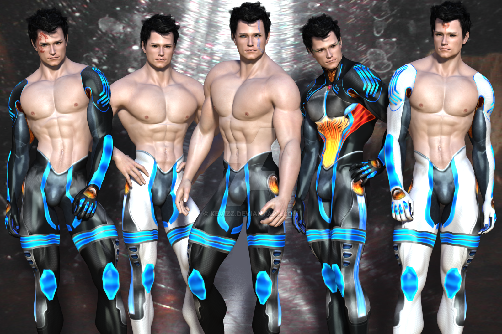 Science fiction men naked