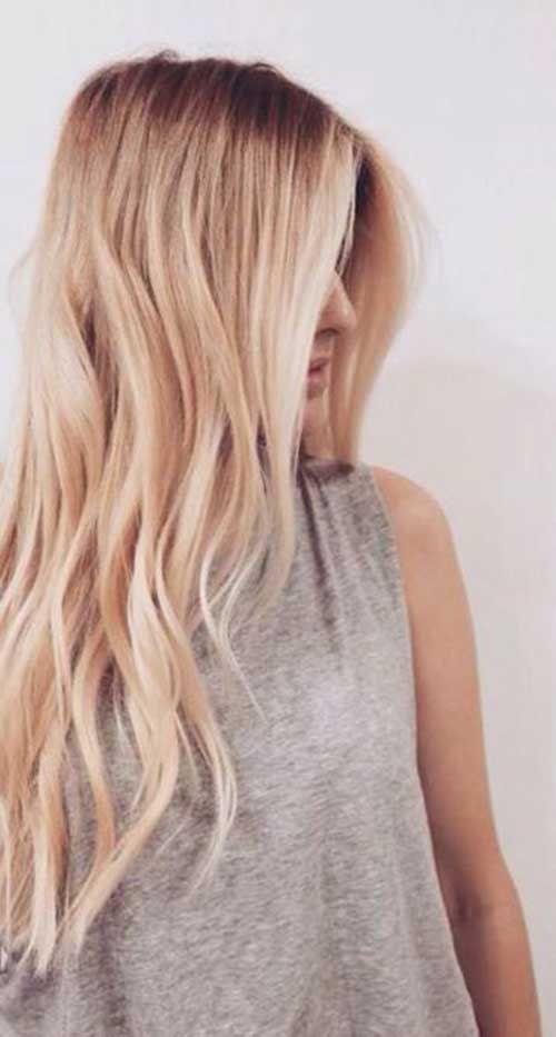 30+ Super Blonde Lange Haare