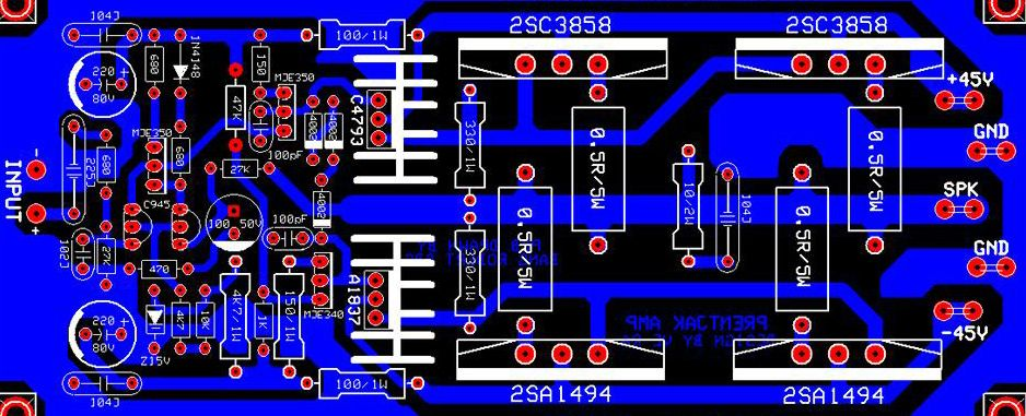 5000W Power Audio Amplifier Layout and schematic – Tested