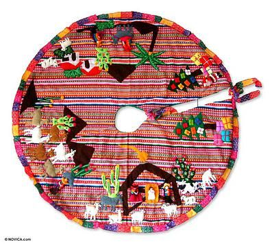 Applique Christmas tree skirt, \u0027Noel\u0027 Tree skirts, Noel and