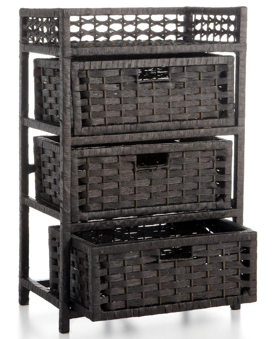 Storage Chest, 3 Drawer Paper Rope Storage chest
