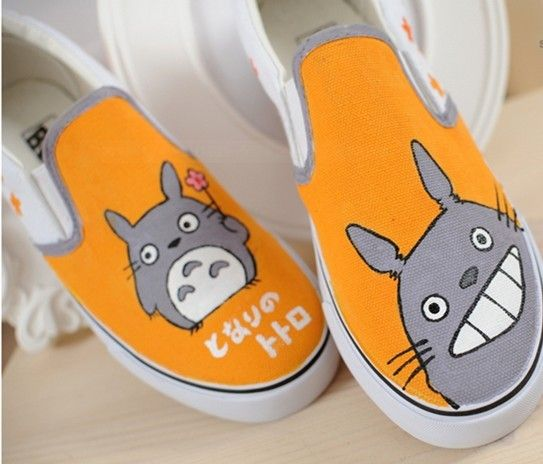 #totoro shoes totoro anime shoes My Neighbor Totoro Custom Hand P