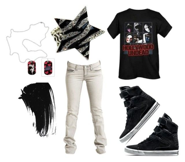 """""""Stars Of HU And JBieber <3"""" by d-nero703 ❤ liked on Polyvore featuring Supra, Tom Tailor Denim, Tag, Forever 21 and Fantasy Jewelry Box"""