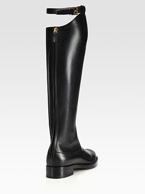 3dffcccfad Gucci - Victoria Leather Knee-High Riding Boots - Saks.com