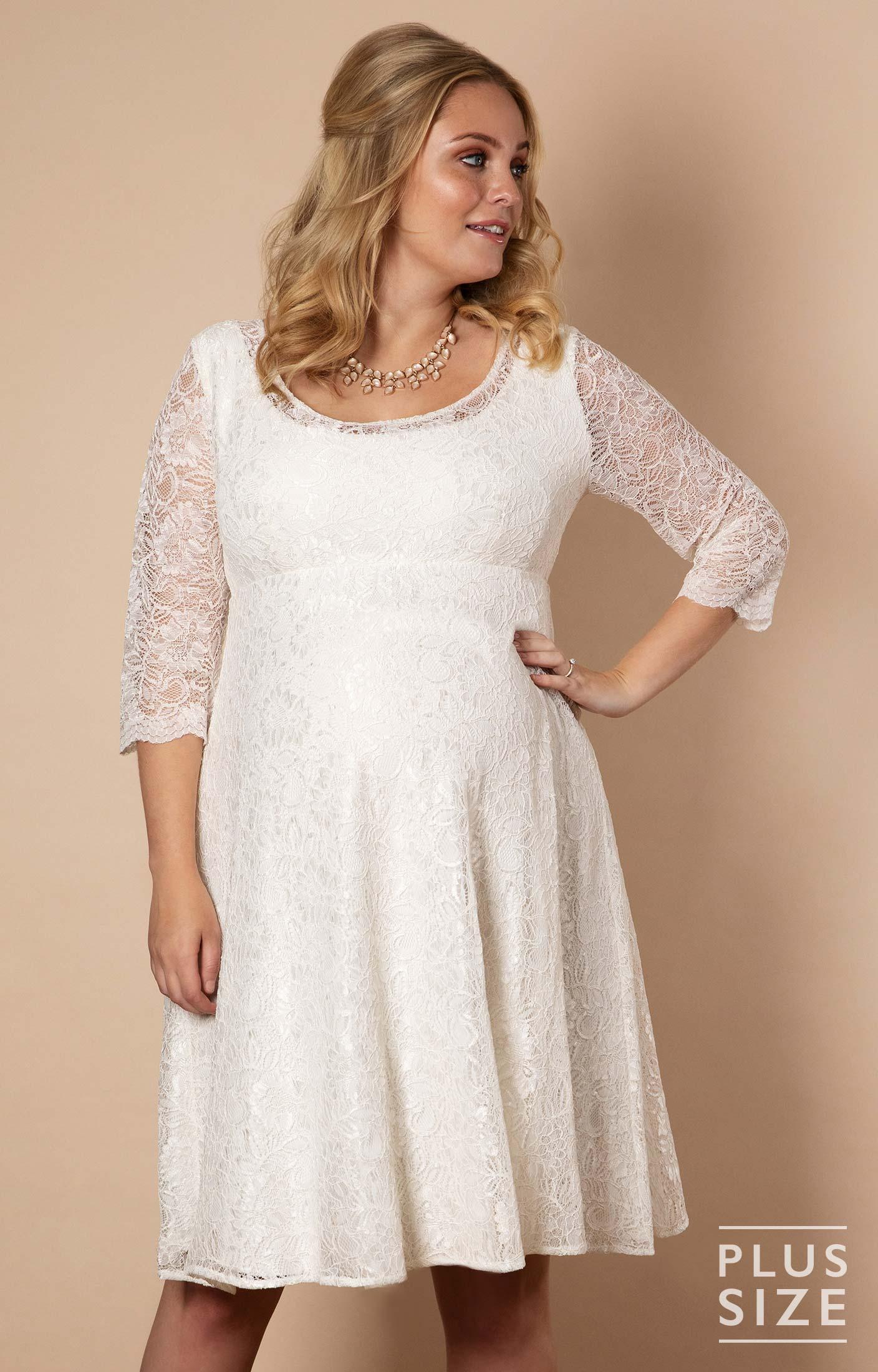 aa9cc020457 Freya Dress Short Plus Size Maternity Wedding Dress Ivory by Tiffany Rose