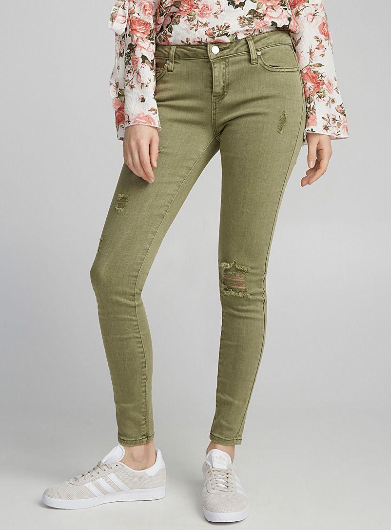 d204ca5f45 Worn accent skinny jean