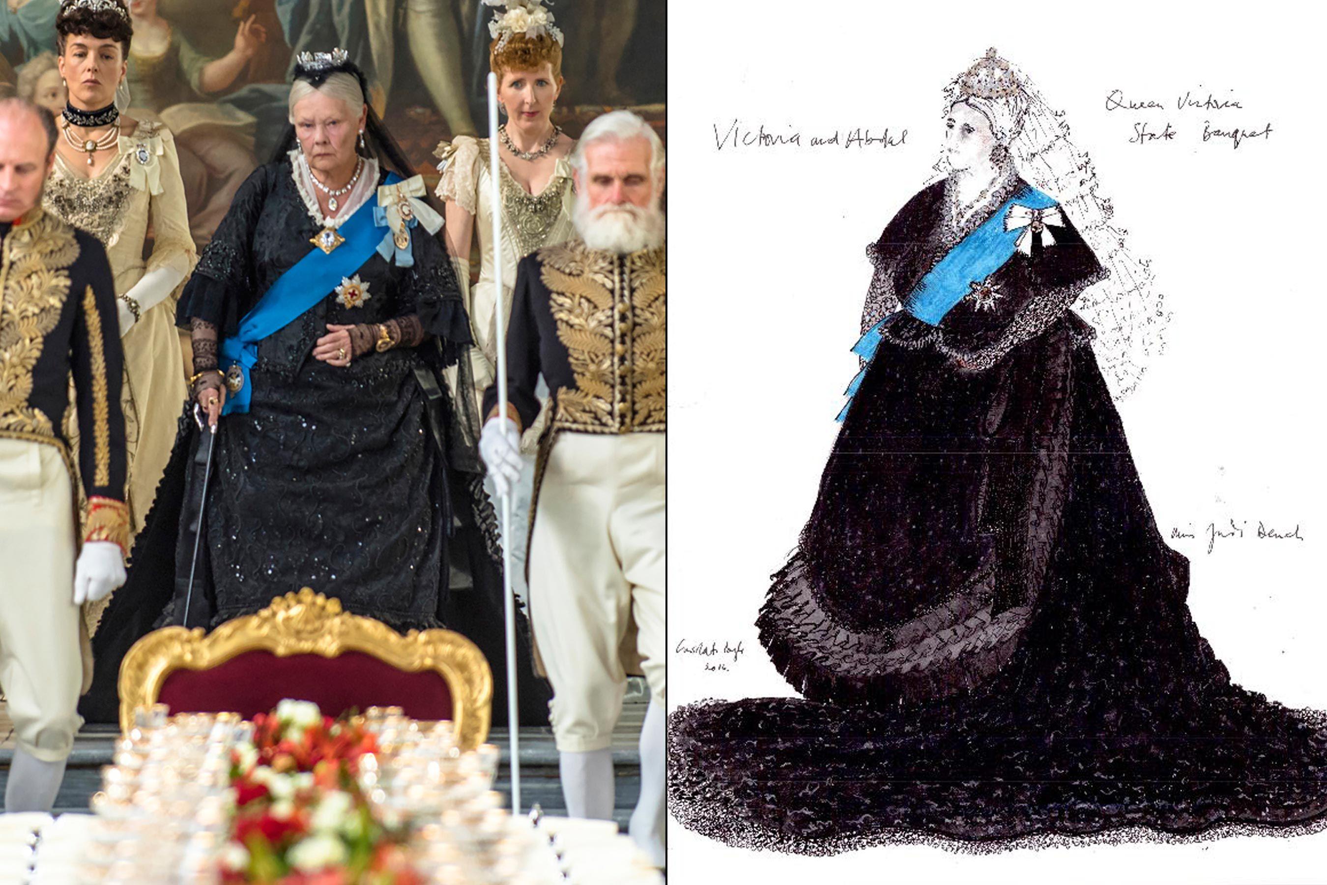 How Victoria And Abdul Costume Designer Stitched A Royal Evolution Costume Design Costume Design Sketch Costumes