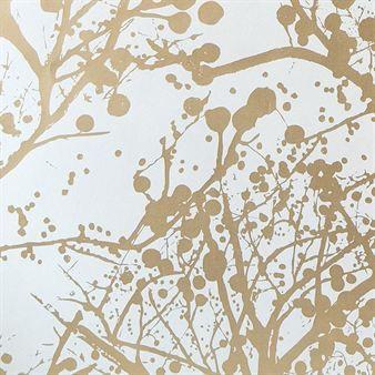 Tapete weiß gold  Wilderness Tapete - weiß/gold | Grafische muster, Zweige und ...