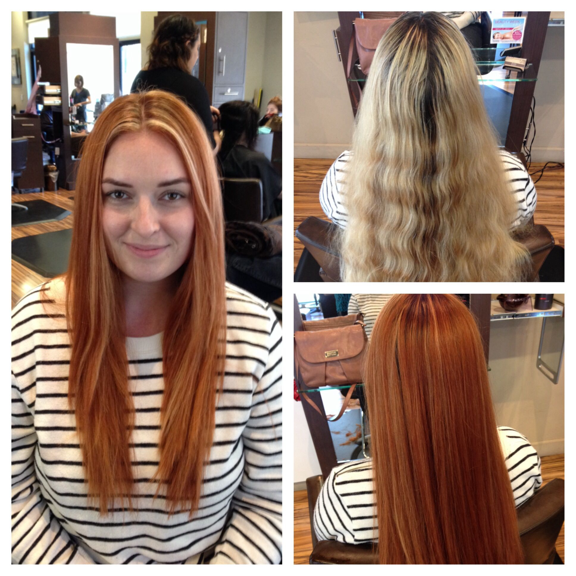 Copper Red Hair With A Few Blonde Highlights Copper Red Hair