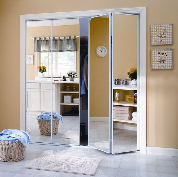 Mirrored Glass Closet Doors Mirrored Bifold Closet Doors Sliding