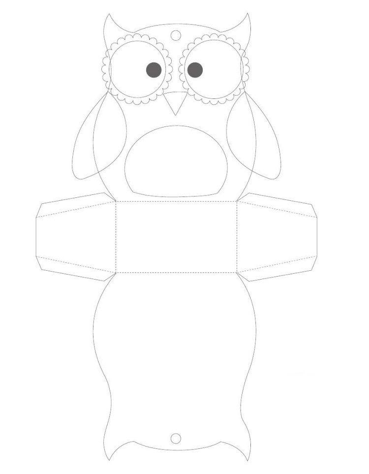 dessin hibou imprimer et bricolage chouette pour enfants dessin hibou bonbon et bo tes. Black Bedroom Furniture Sets. Home Design Ideas