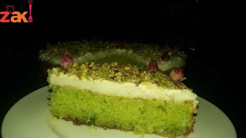بسبوسه بالفستق الحلبي زاكي Middle Eastern Desserts Desserts Food