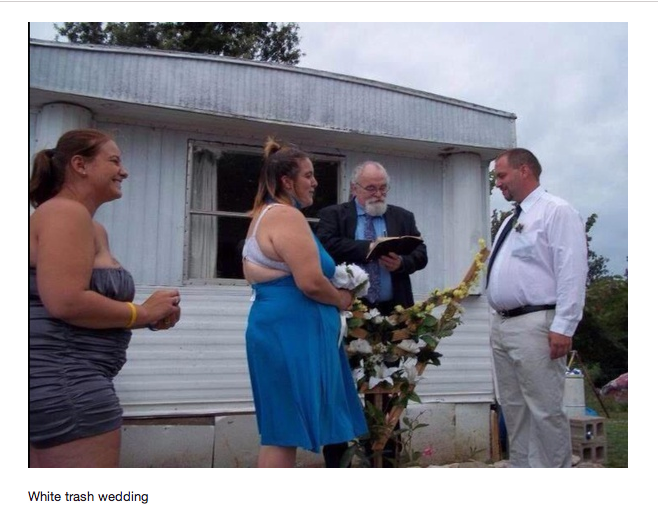 White Trash Wedding.I Challenge The Ot To Find A More Trashy Wedding Pic Page