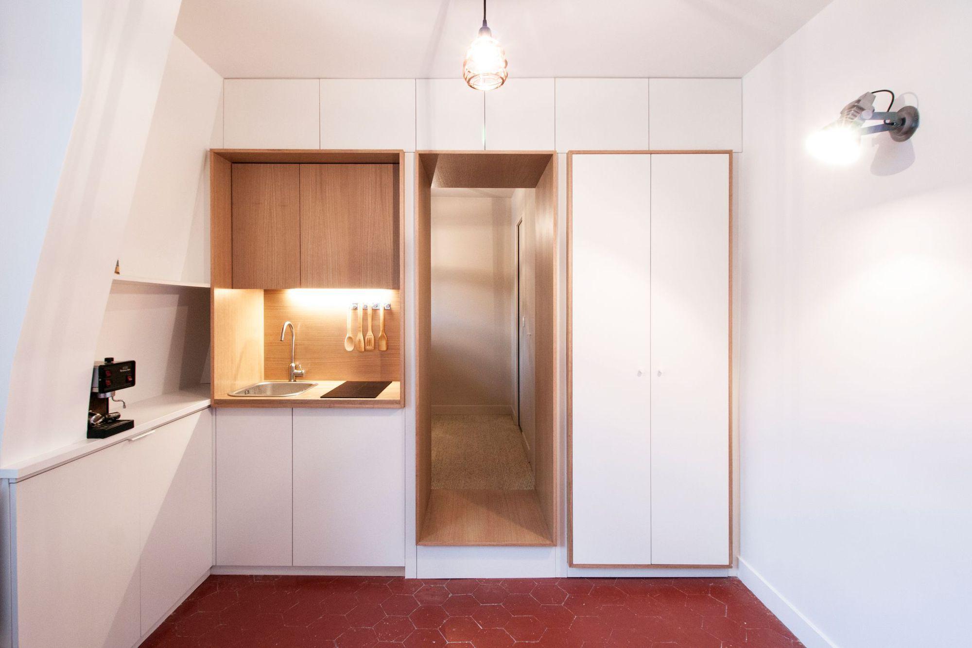 Appartement paris 11 un deux pi ces dans 21 m2 studio - Location chambre de bonne paris 16 ...