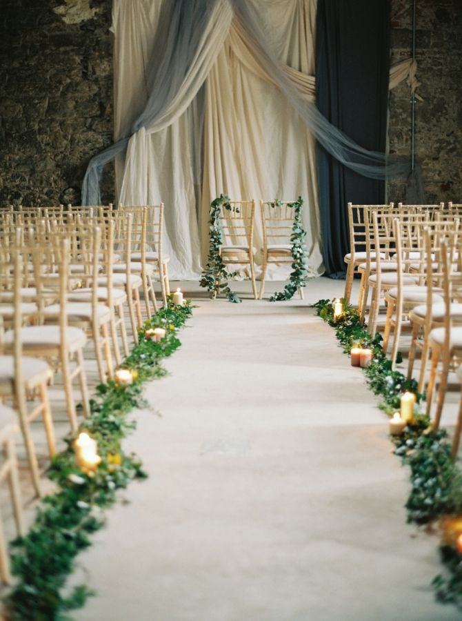 27 Gorgeous Greenery Garland Wedding Ideas For 2017 Aisle Runner