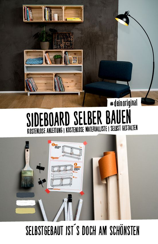 sideboard setzkasten selber bauen aufbewahrung regale jetzt selber bauen diy pinterest. Black Bedroom Furniture Sets. Home Design Ideas