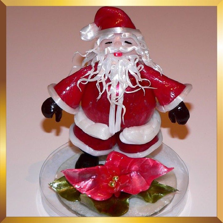Christmas Cake Decorations Flowers: Sugar Art Santa Table Decoration / Cake Topper From