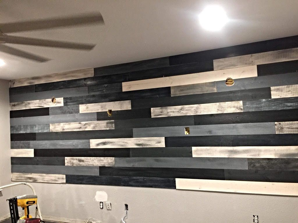 Multicolored Shiplap Wall for Interior Home Design  Ship lap