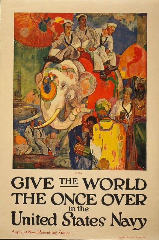 Give The World The Once Over in the United States Navy http://mentalfloss.com/article/12383/21-world-war-i-recruitment-posters-around-globe